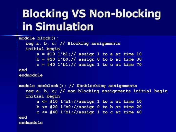 Blocking VS Non-blocking in Simulation