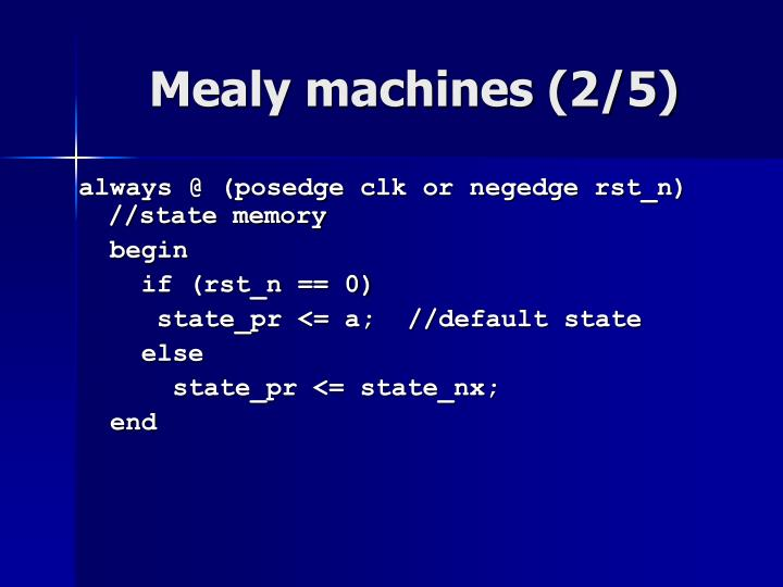 Mealy machines (2/5)