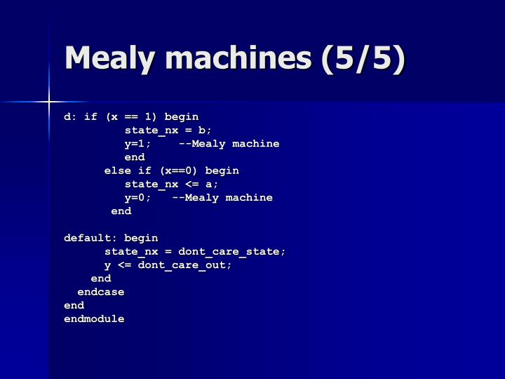 Mealy machines (5/5)