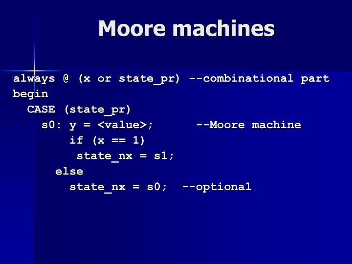 Moore machines