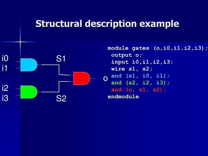 Structural description example