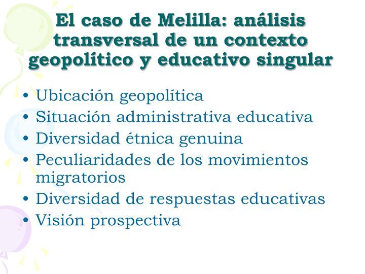 El caso de Melilla: análisis transversal de un contexto geopolítico y educativo singular