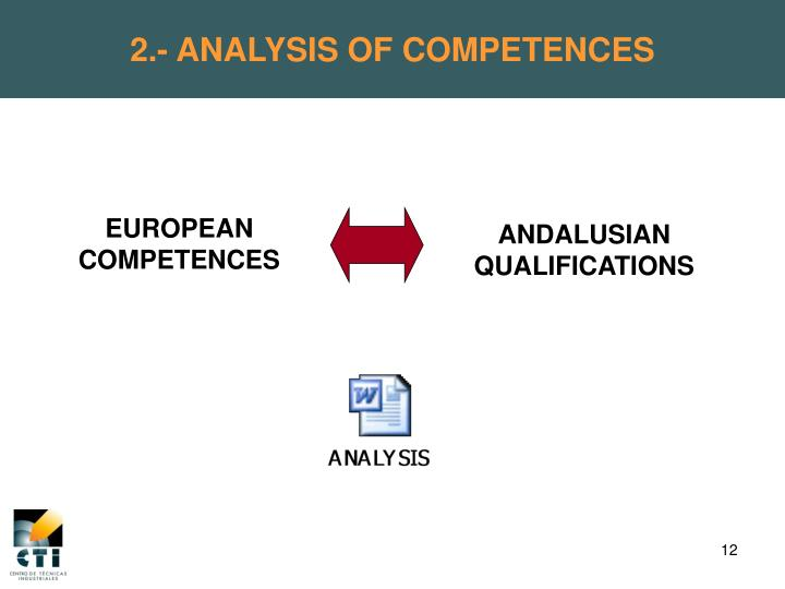 2.- ANALYSIS OF COMPETENCES