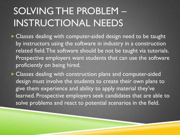 Solving the Problem –