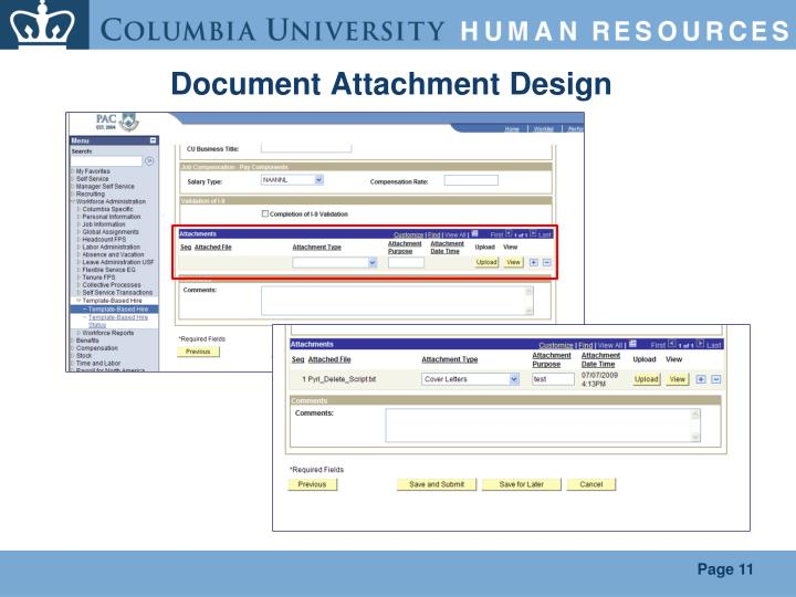 Document Attachment Design