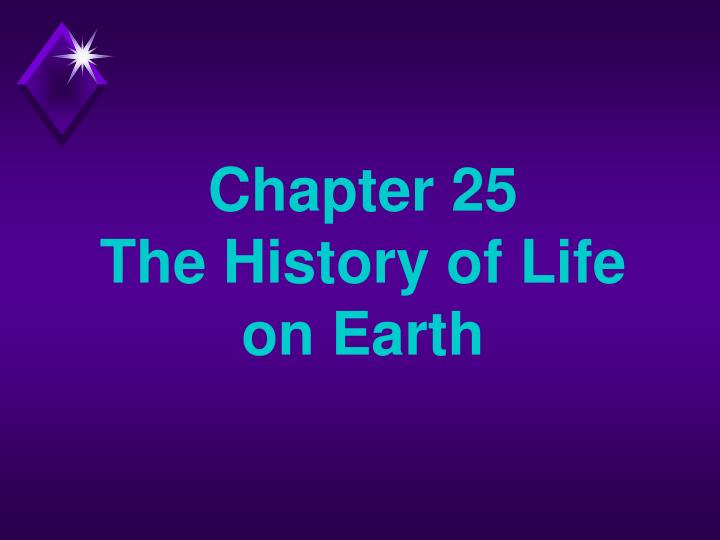 chapter 25 the history of life on earth n.