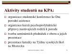 aktivity student na kpa