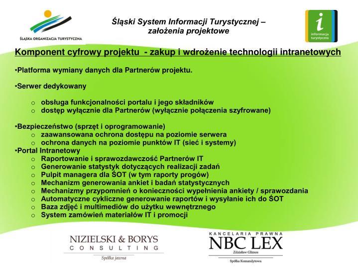 Śląski System Informacji Turystycznej – założenia projektowe