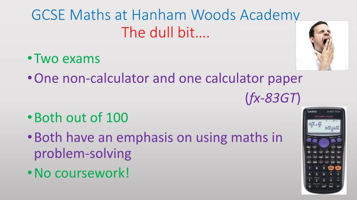 GCSE Maths at Hanham Woods Academy