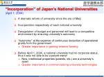 incorporation of japan s national universities april 1 2004