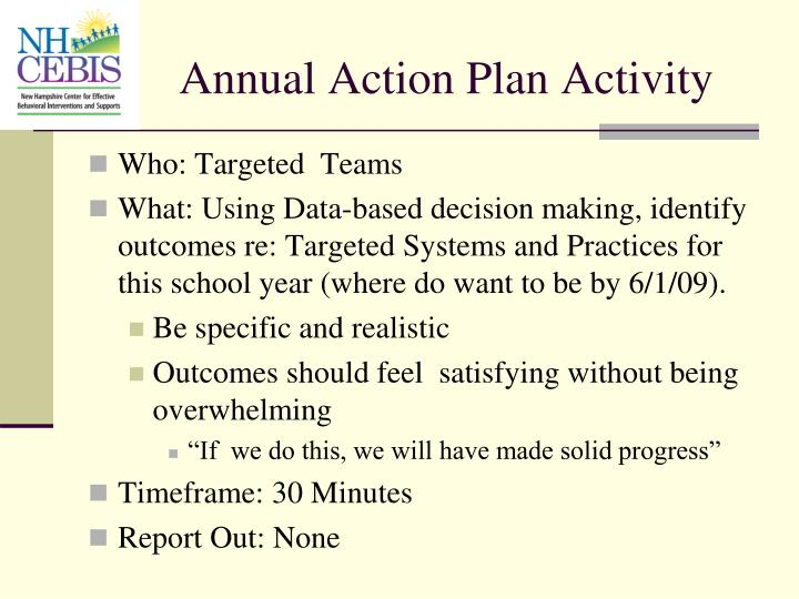 Annual Action Plan Activity