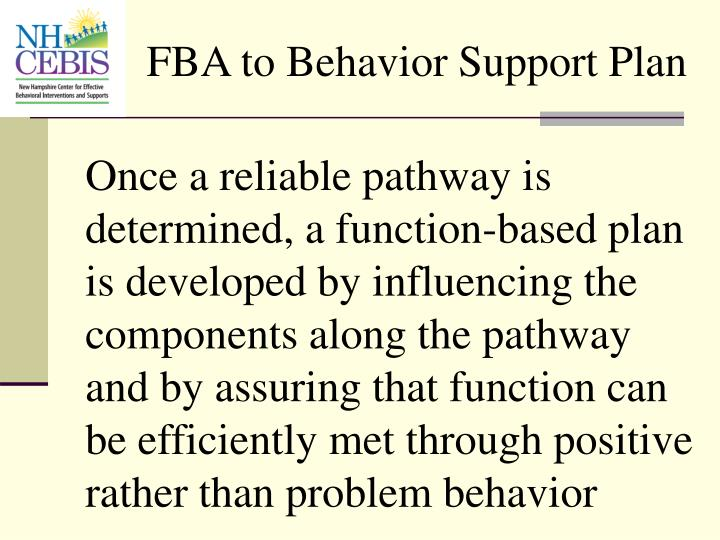 FBA to Behavior Support Plan