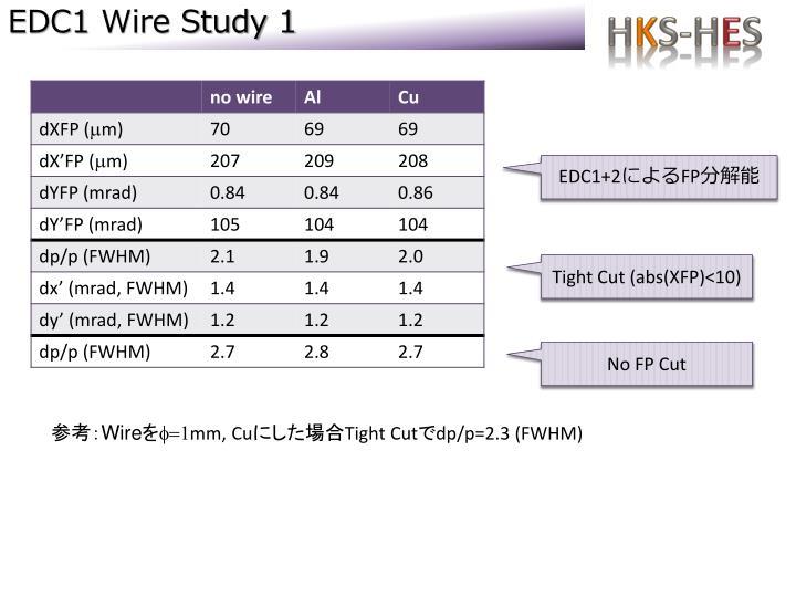 Edc1 wire study 1