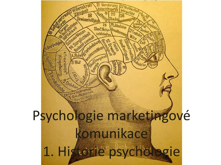 psychologie marketingov komunikace 1 historie psychologie n.