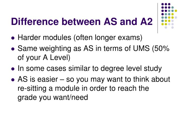 Difference between AS and A2