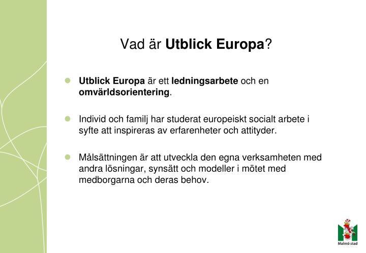 Vad r utblick europa