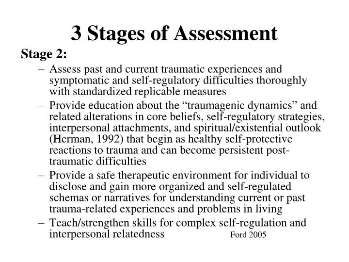 3 Stages of Assessment