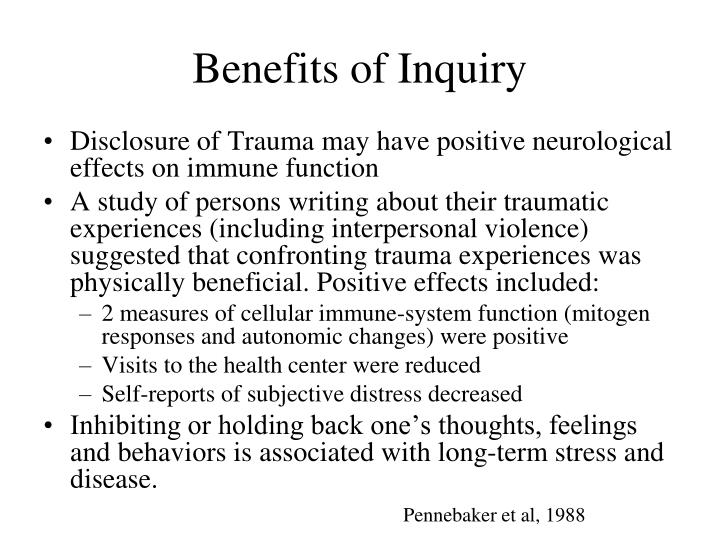 Benefits of Inquiry