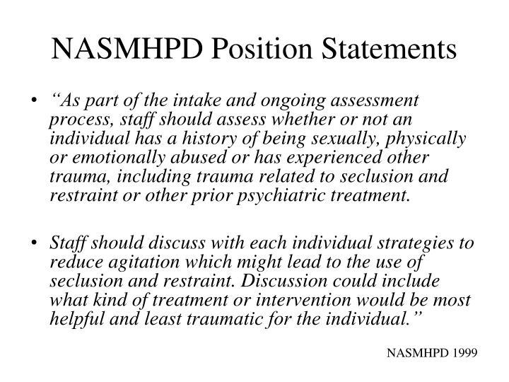 NASMHPD Position Statements
