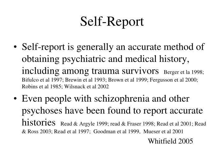 Self-Report