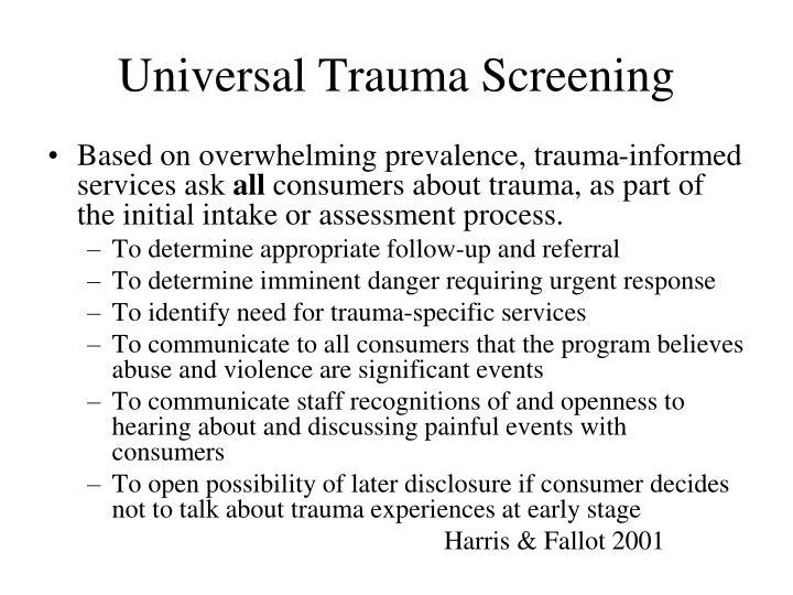 Universal Trauma Screening