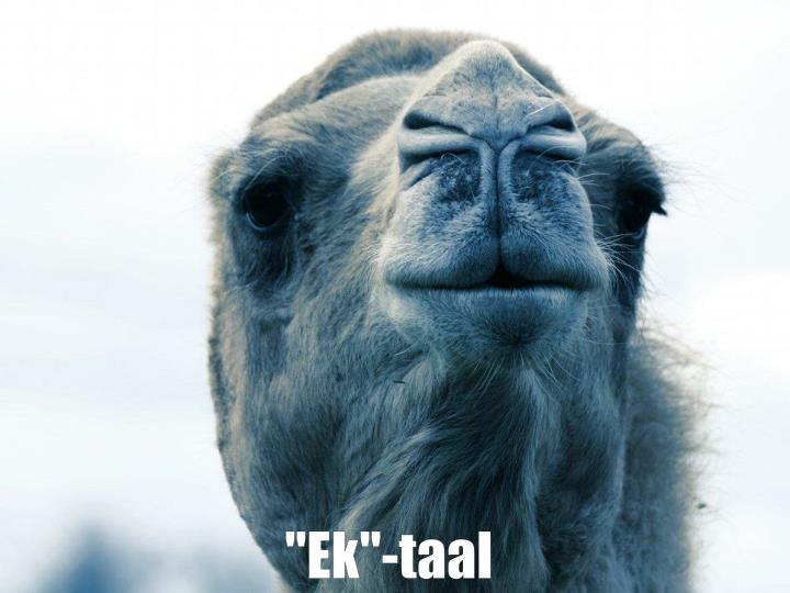 """""""Ek""""-taal"""