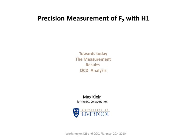 Precision measurement of f 2 with h1