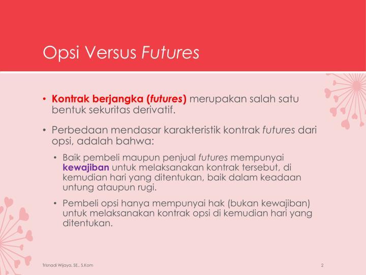 Opsi versus futures