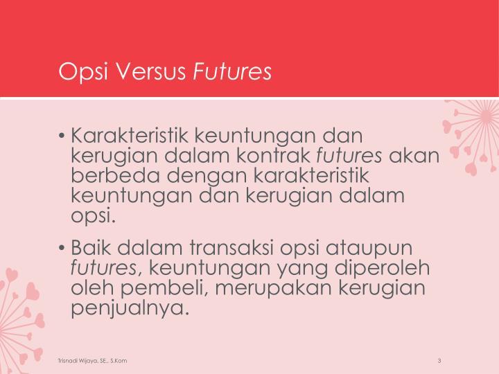 Opsi versus futures1