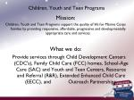 children youth and teen programs