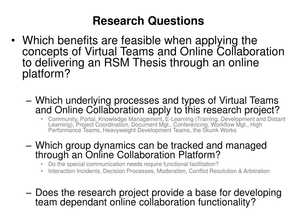 PPT - To deliver a EUR/RSM Master's Thesis through an online