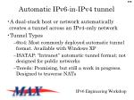 automatic ipv6 in ipv4 tunnel