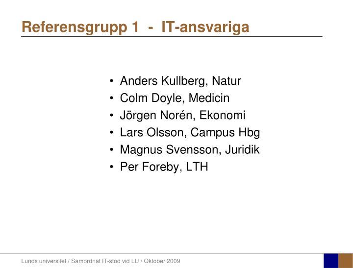 Referensgrupp 1  -