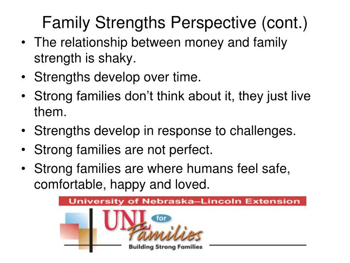 Family Strengths Perspective (cont.)