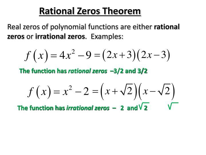 Rational Zeros Theorem