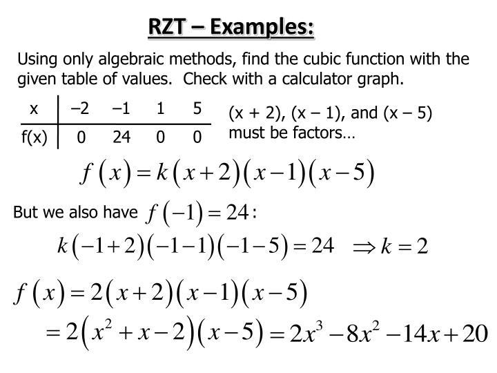 RZT – Examples:
