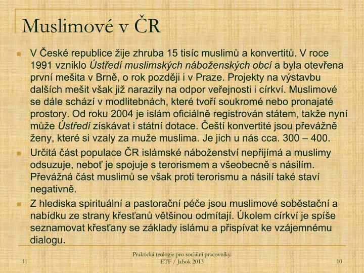 Muslimové v ČR