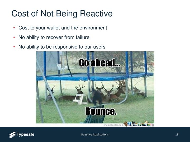 Cost of Not Being Reactive
