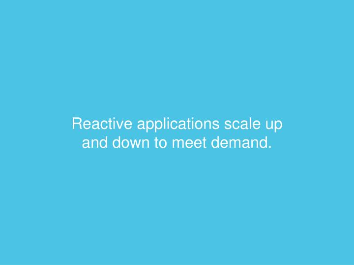 Reactive applications scale
