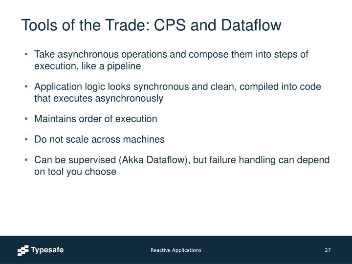 Tools of the Trade: CPS and Dataflow