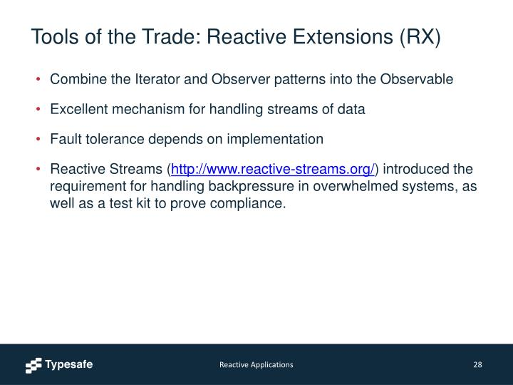 Tools of the Trade: Reactive Extensions (RX)