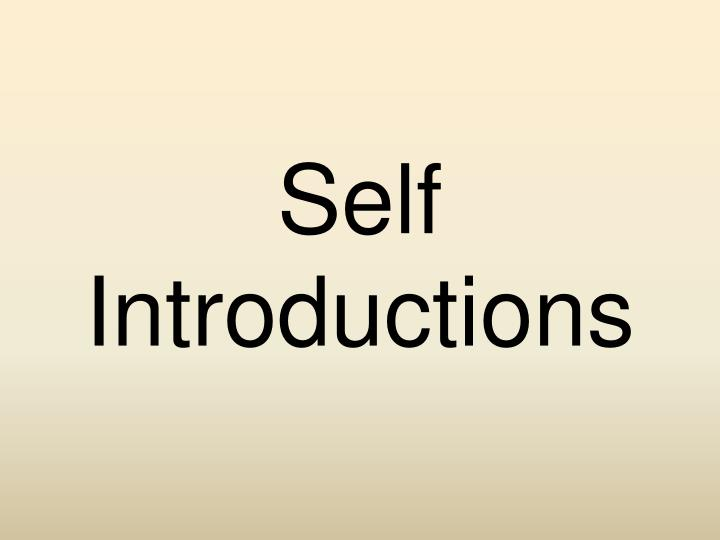 self introductions n.