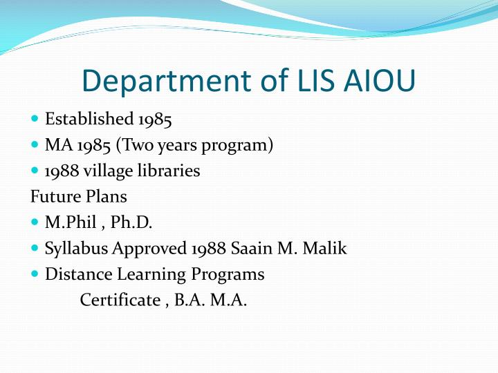 Department of LIS