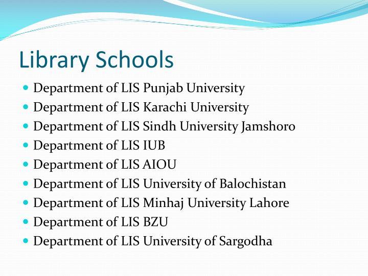 Library Schools
