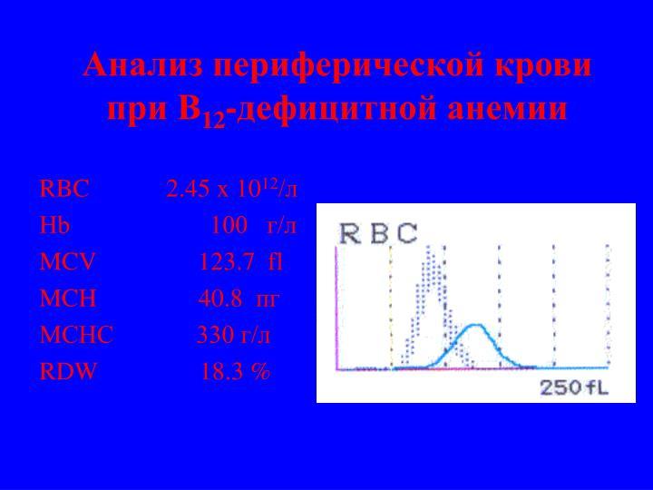 Анализ периферической крови при В
