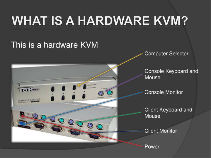 What is a hardware KVM?