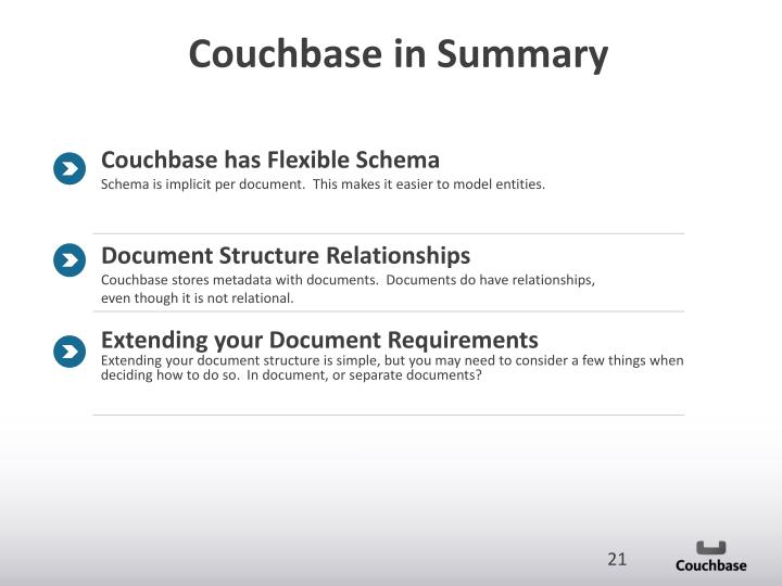 Couchbase in Summary