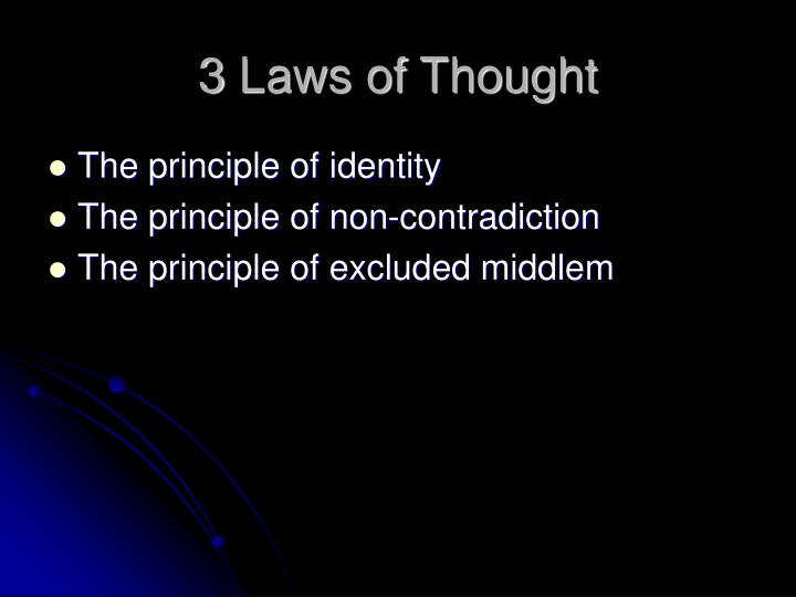 3 Laws of Thought