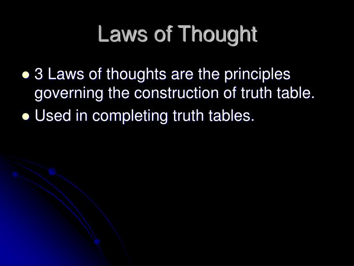 Laws of Thought