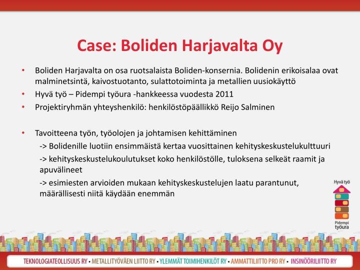 Case: Boliden Harjavalta Oy